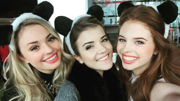 Jordan Clark, Victoria Balsarra and Brittany Raymond