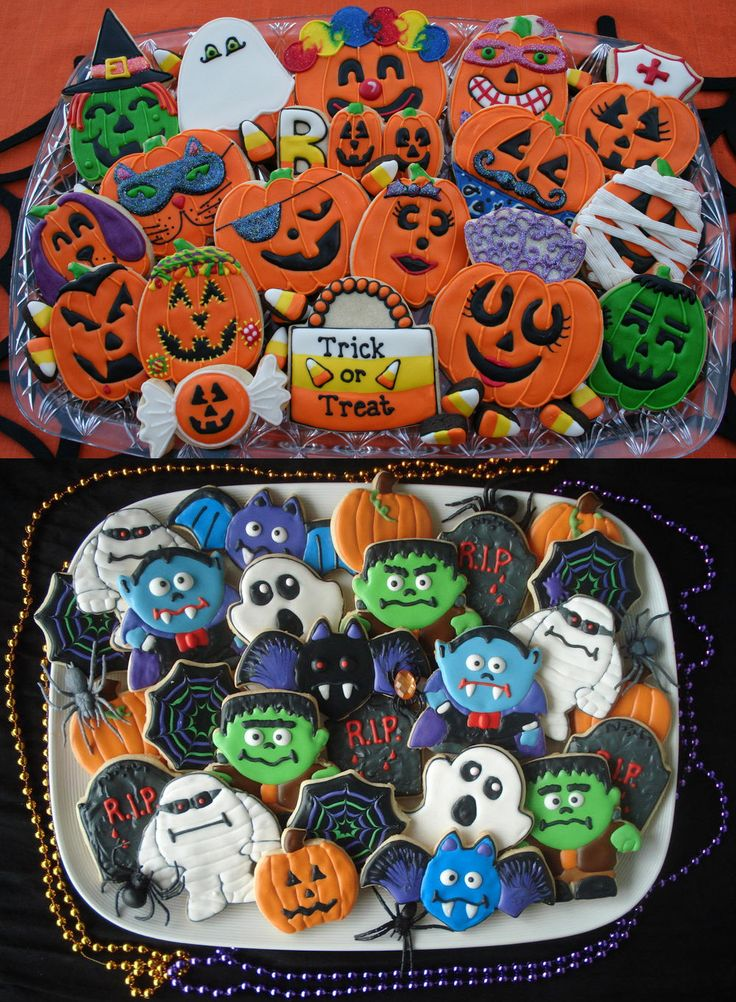 halloween cookies icing recipe sugar ideas how to diy skulls spooky kids baking mummies frankenstien pumpkin - Halloween Cookies Decorating Ideas