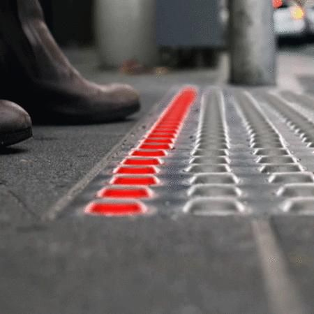 When you walk in the street but stare at your phone.  This underground traffic light will protect your safety, remind you stop forward.   -- Australia team Büro Nort design