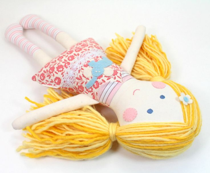 EcoFriendly Soft Fabric Cloth Doll for Girl  by CleoAndPoppy, $52.00