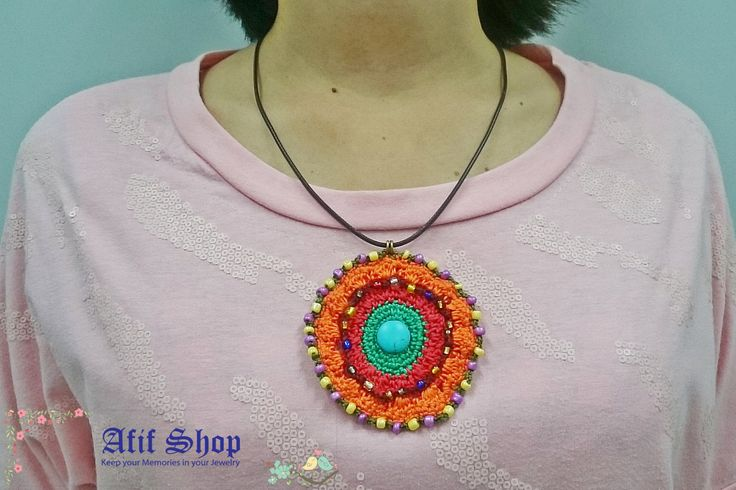 SUPER SALE /Colorful jewelry /Beaded jewelry /Stone Jewelry /Ethnic necklace /Circle necklace /bohemian necklace /Gift for her by AfifShop on Etsy