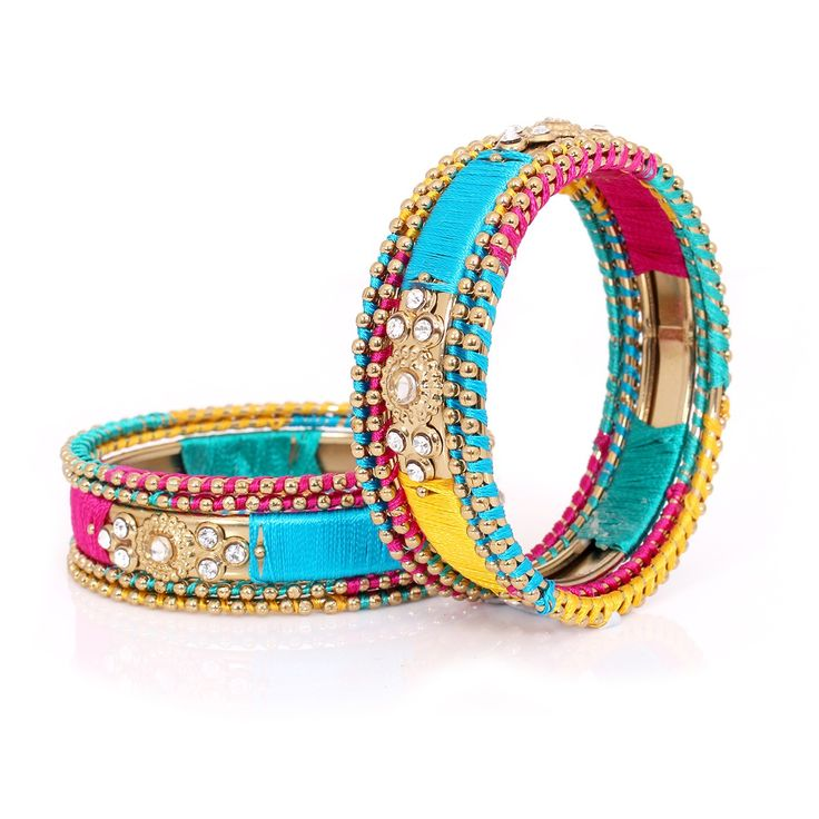 Silk Thread Bangles Multi color | #Wedtree #JewelryGifts #OnlineWeddingShopping