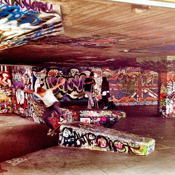 Southbank Skate Park in South Bank, Greater London