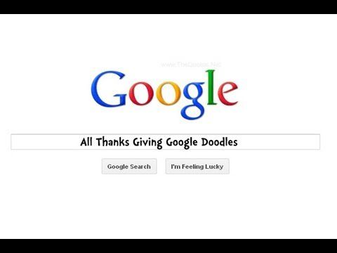 Thanks Giving  Day Google Doodles (1998 - 2011)