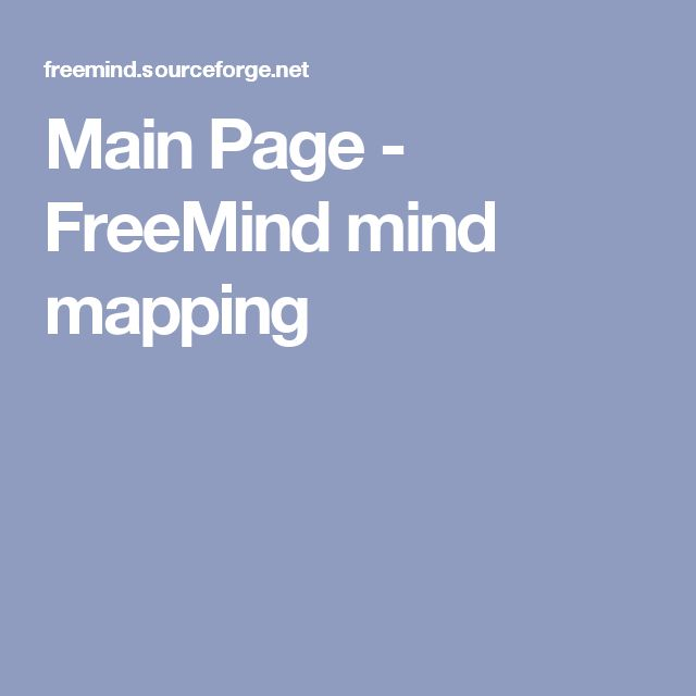 Main Page - FreeMind mind mapping