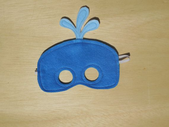 Whale Mask by Mahalo on Etsy, $11.00