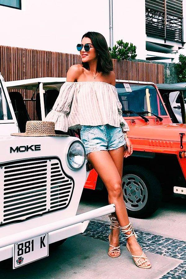 Short jeans + verão