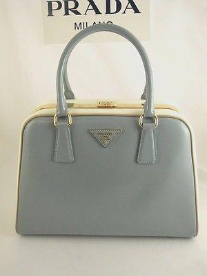 buy replica prada handbags - $3350 PRADA Pyramid Vernice Saffiano Patent Leather Frame Top Bag ...