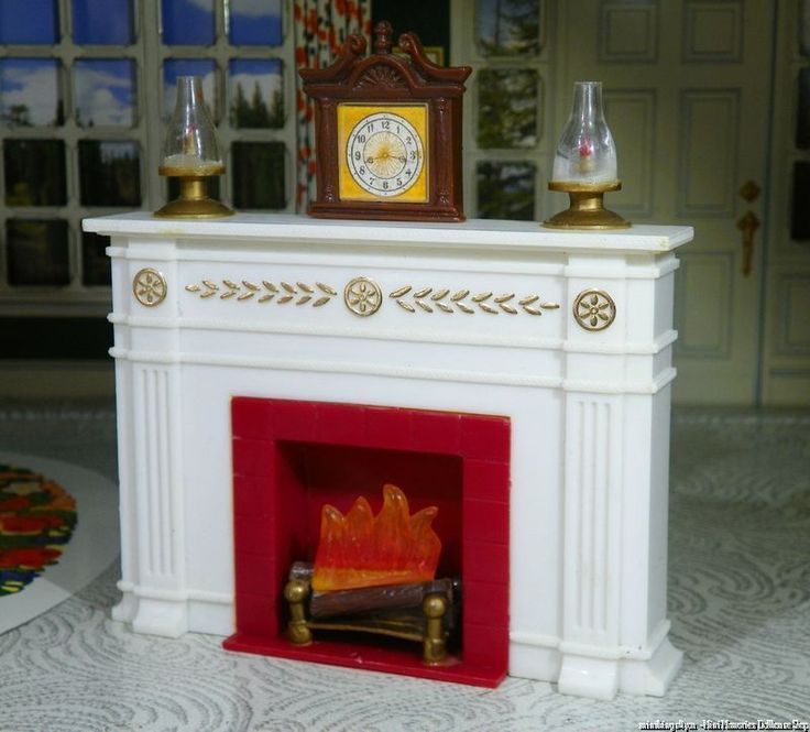 Unique FIREPLACE By Miner Vintage Dollhouse Furniture Fits Renwal Marx Ideal