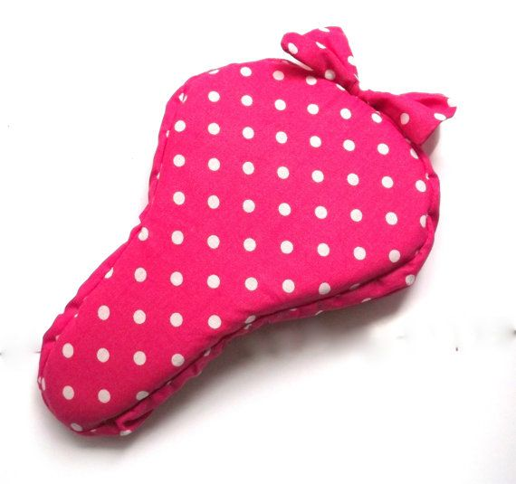 Pink polka dotted seat cover saddle cover bike by PetusaSelection