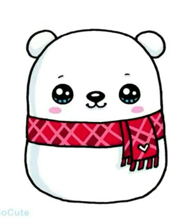 Polar Bear Cute Animal Drawings Kawaii Cute Little Drawings
