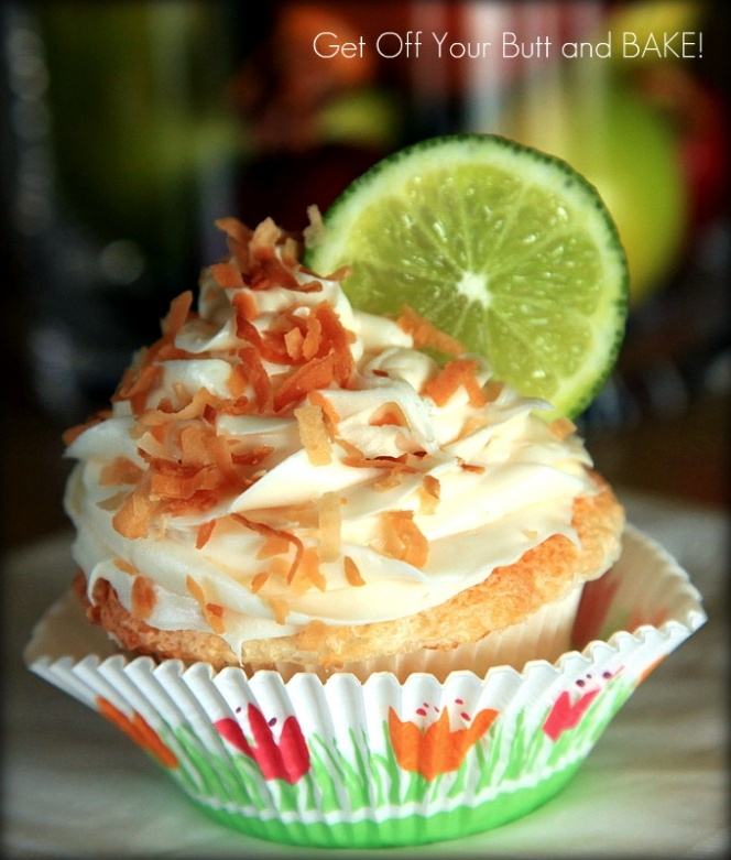 Coconut Lime Angel Food Cupcakes | gimme some suga | Pinterest