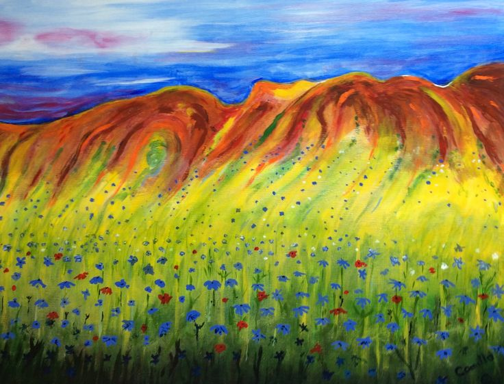 Meadow of Dreams (acrylic on canvas )