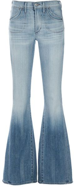 Citizens Of Humanity Blue Angie Super Flare Jeans