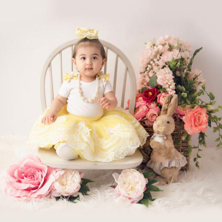 First Birthday Outfit Girl, Birthday Tutu Outfit, First Birthday Outfit, yellow Tutu Bodysuit Headband Set, 1st Birthday by BabyKlara on Etsy https://www.etsy.com/listing/508443496/first-birthday-outfit-girl-birthday-tutu