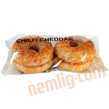Bagels m. chili og cheddar.