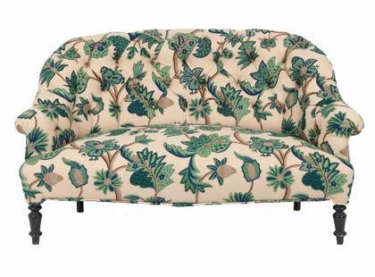 love the shape, not so much the fabric #home: Antique Addiction, Antique Textiles, Antique Sofa, Antique Floral, Antique Tufted, Crewel Settee, Antiques, Antique Geek
