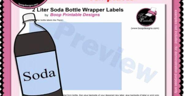2 Liter Bottle Label Template Unique 2 Liter Soda Bottle Wrapper Label Templates By Boop Bottle Label Template Bottle Labels Label Templates