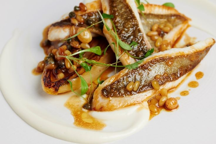 This stunning recipe from the Galvin brothers combines the delicate flesh of John Dory with a sweet and nutty raisin and pine nut dressing