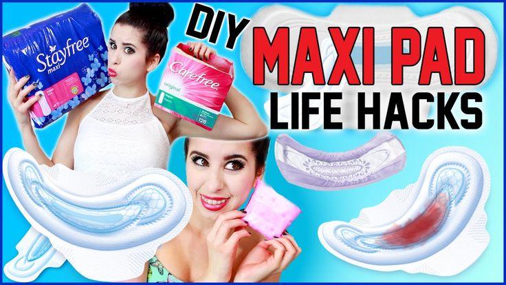 10 DIY Maxi Pad Life Hacks!   10 NEW Ways To Use Maxi Pads!   Apply Make...