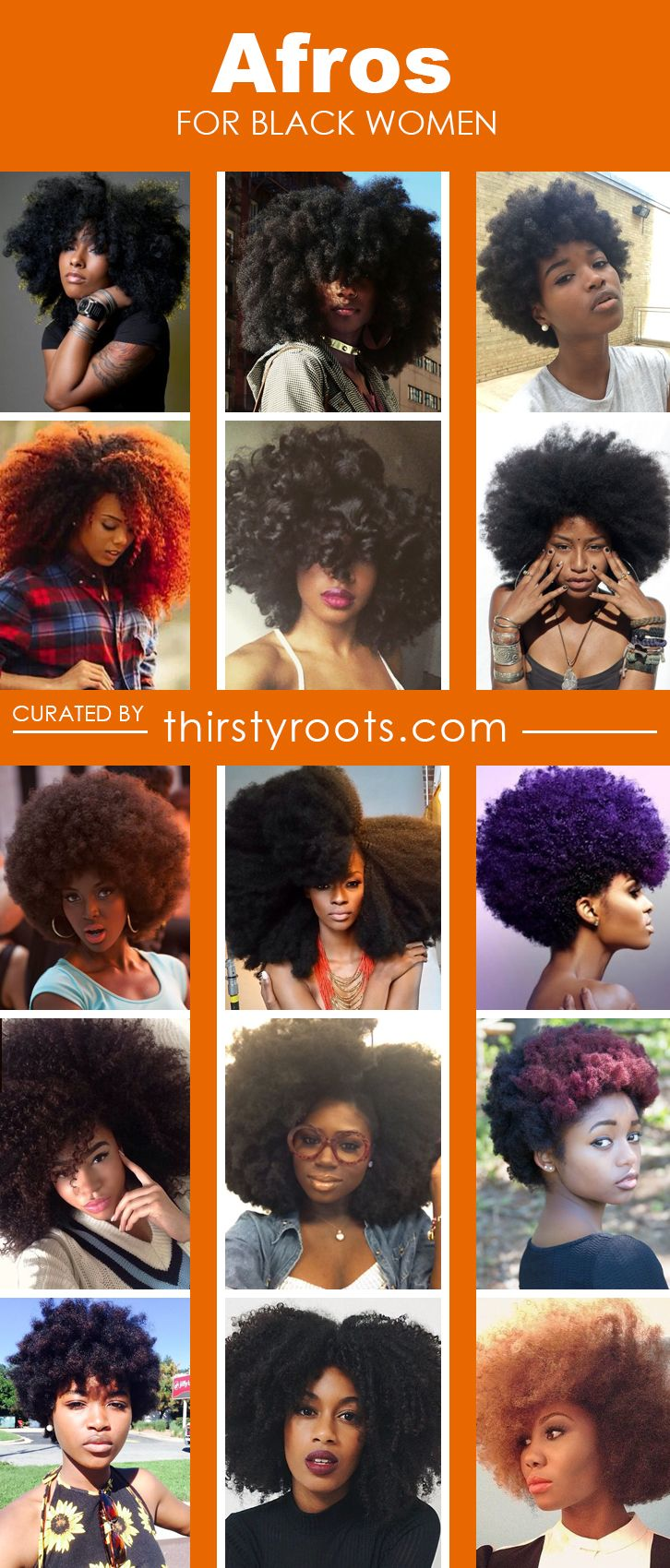 Super hot natural afro hairstyles for black women to rock in the streets and at the workplace.