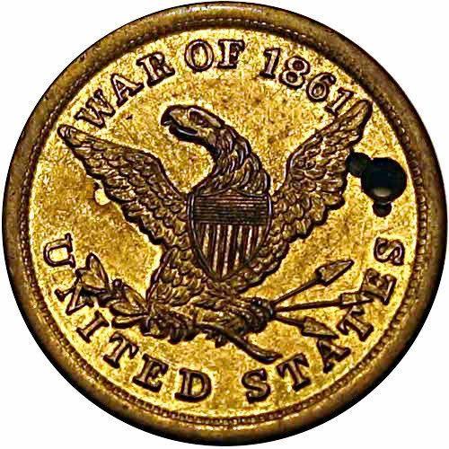 Civil War Soldier ID Dog Tag 1861 Partially issued G B Sanford