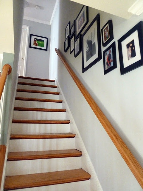 17 best ideas about stairway photos on pinterest for Hang stockings staircase