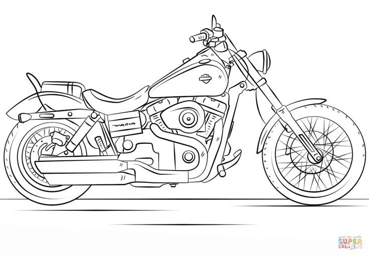Harley Davidson Motorcycle Coloring Page From Motorcycles Category Select From 27065 Printable Crafts Of Harley Davidson Harley Davidson Motorrad Malvorlagen