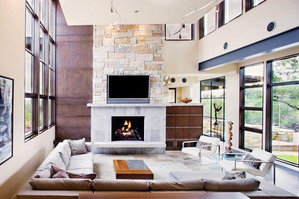 Striking Home Design #fireplace #living-room