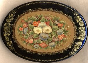 Title: Field Flowers  Artist: Zhigalov Yuriy  School: Mstera  Size (in): 5x3.75x1.25  Price: 495