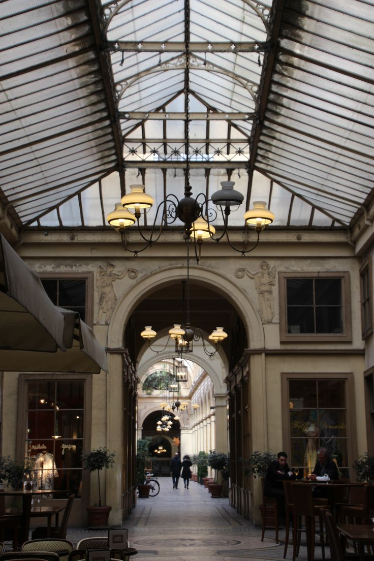 Stunning 1826 Galerie Vivienne a passages couverts (covered shopping arcade)