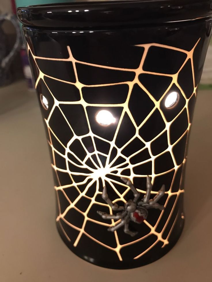 Scentsy Premium Creepy Crawly Electric Tart Warmer Halloween Spider & Web New  | eBay