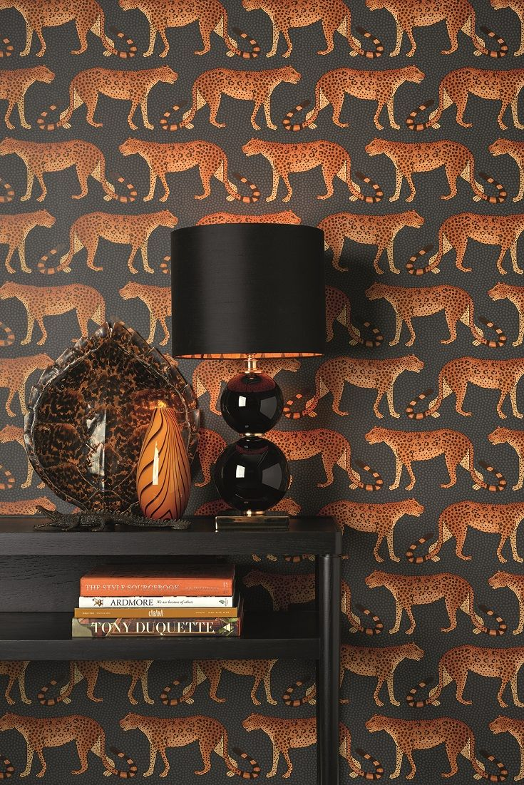 Leopard Walk wallpaper design by Cole and Sons. We love it!