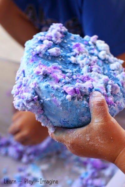 Frozen baking soda dough