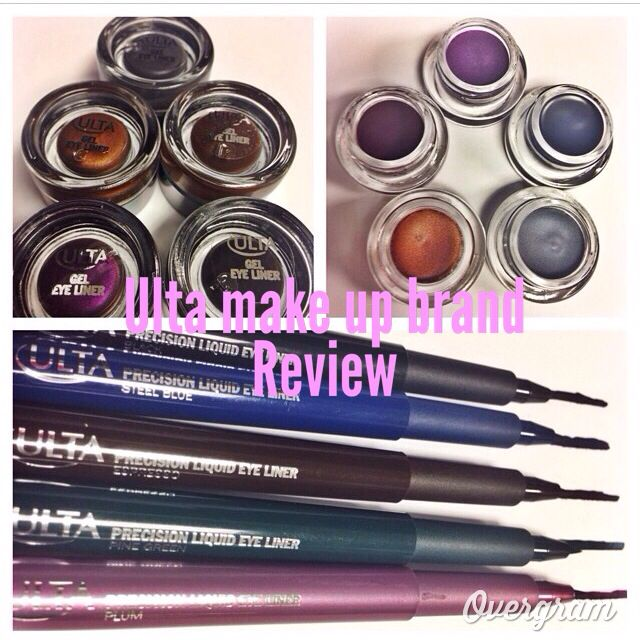 ULTA MAKE UP BRAND REVIEW! So did you know that ULTA not only sells drug store and professional make up brands but they have THIER OWN LINE of make up that is quit nice . There GEL EYELINERS & FELT TIP EYE LINERS are so good . They are long lasting and come in fun colors. The price are good too under 10.00 each and ULTA always has sales on there own line . You can get them @ultabeauty only . #makeup #eyeliner#makeupisjustcoloreddirt #beautiful