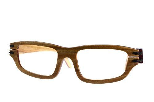 Gafas de sol en madera, filtro UV, marca Maguaco S028. Maderas: Guayacán Guajiro y Ebano Sinuano. $200.000 COP