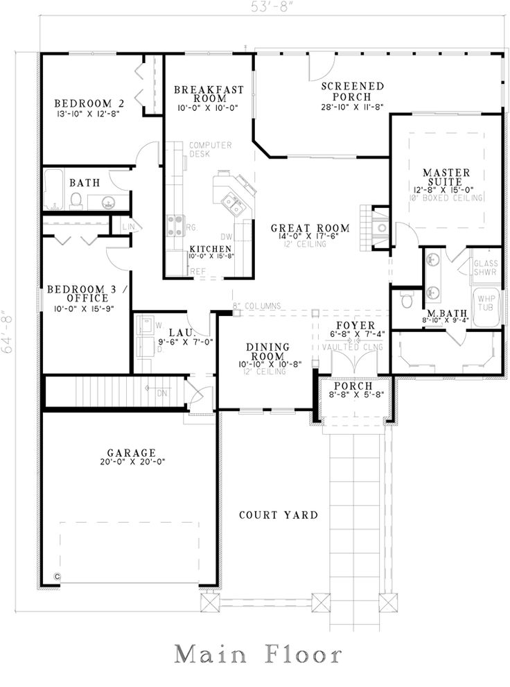 150 best house plans images on Pinterest | Floor plans, House ...