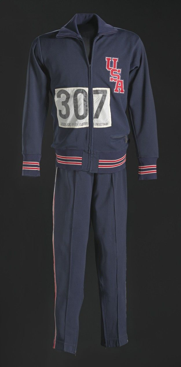 The warm-up suit worn by athlete Tommie Smith while raising his hand in the Black Power salute on the medal podium at the 1968 Olympics. | 29 Must-See Items At The New Smithsonian Museum Of African American History - BuzzFeed News