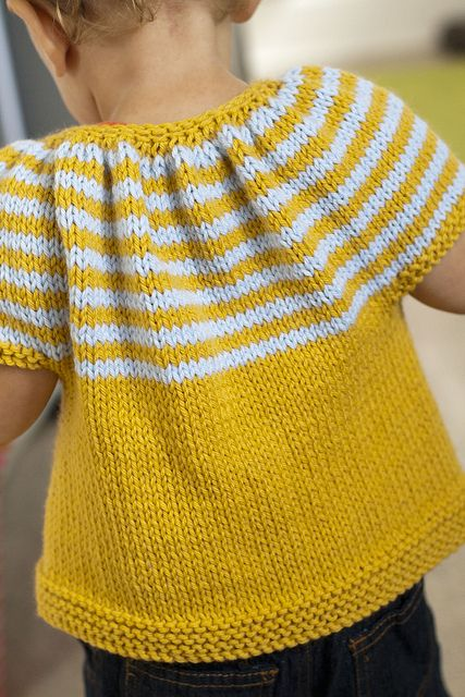 free pattern. striped baby cardigan