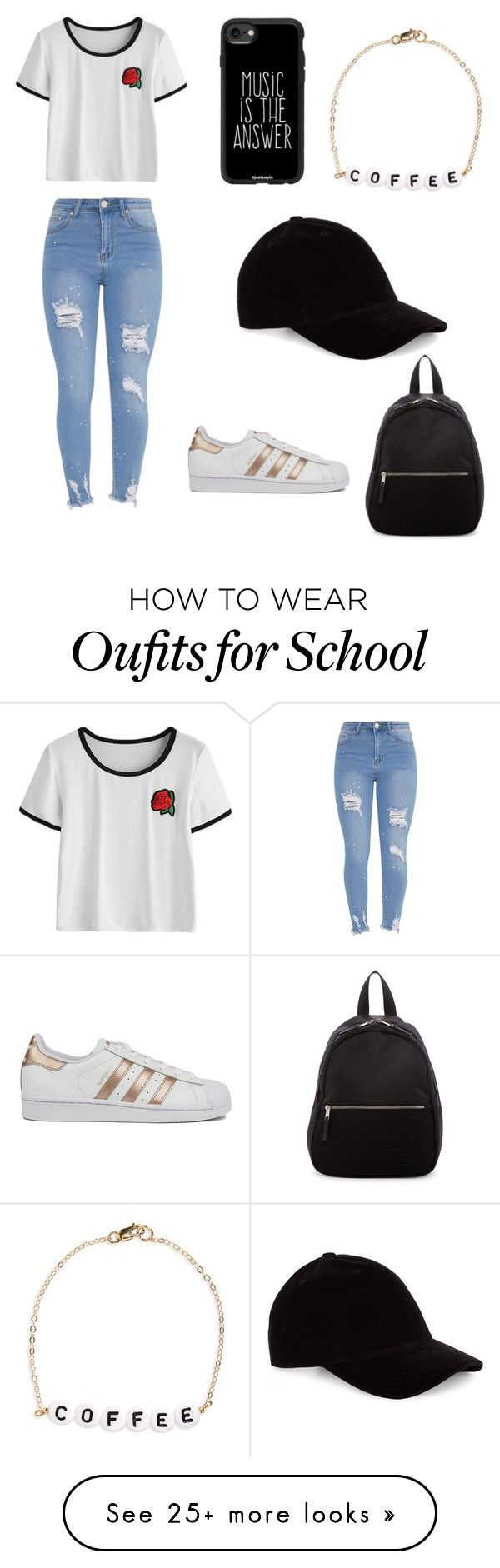 """""""Back to School #1"""" by hannahw3ndt on Polyvore featuring adidas, Casetify, Le Amonie, Ryan Porter and Madden Girl"""