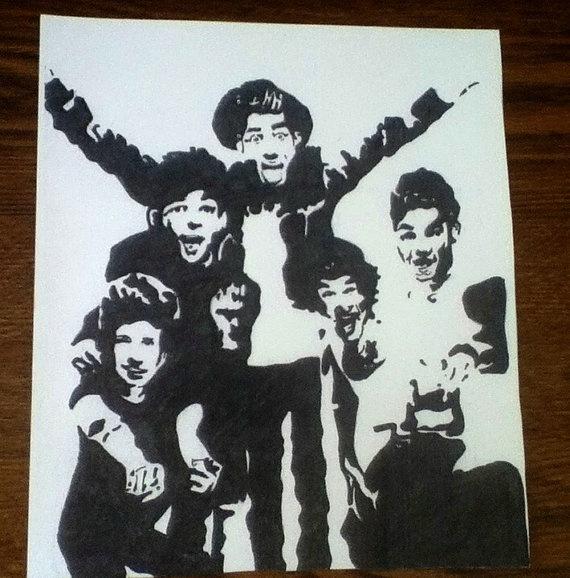 one direction group pop art via Etsy