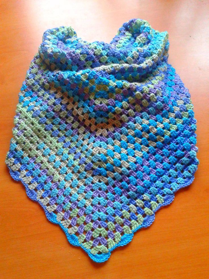 crochet shawl- Alize diva