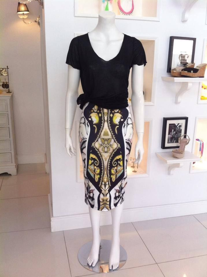 A different skirt you can match with just a top for a simple look or with a shirt for a more formal outfit!