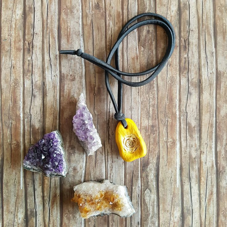 Yellow pendant for the yellow chakra. An ideal get well gift for her. 7 chakras colours available.