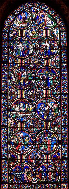 Bourges Ambulatory Glass - Bay 06 Key