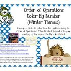 Color By Number Order of Operations – Holiday (Winter) Themed   Have your students solve these ten problems using the Order of Operations.  When fi...