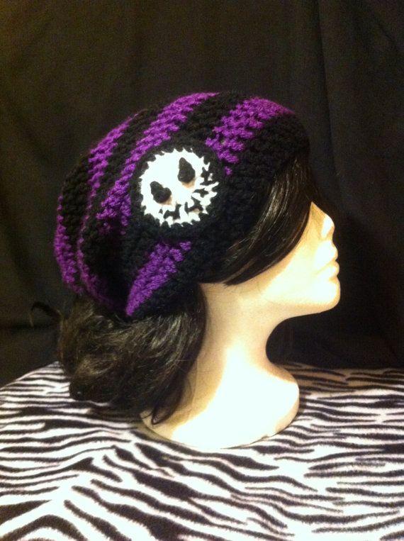 Nightmare Before mauve & Noël Jack squelette noir rayé Tuque Tim Burton femme homme ADO Halloween Hipster chapeau au Crochet