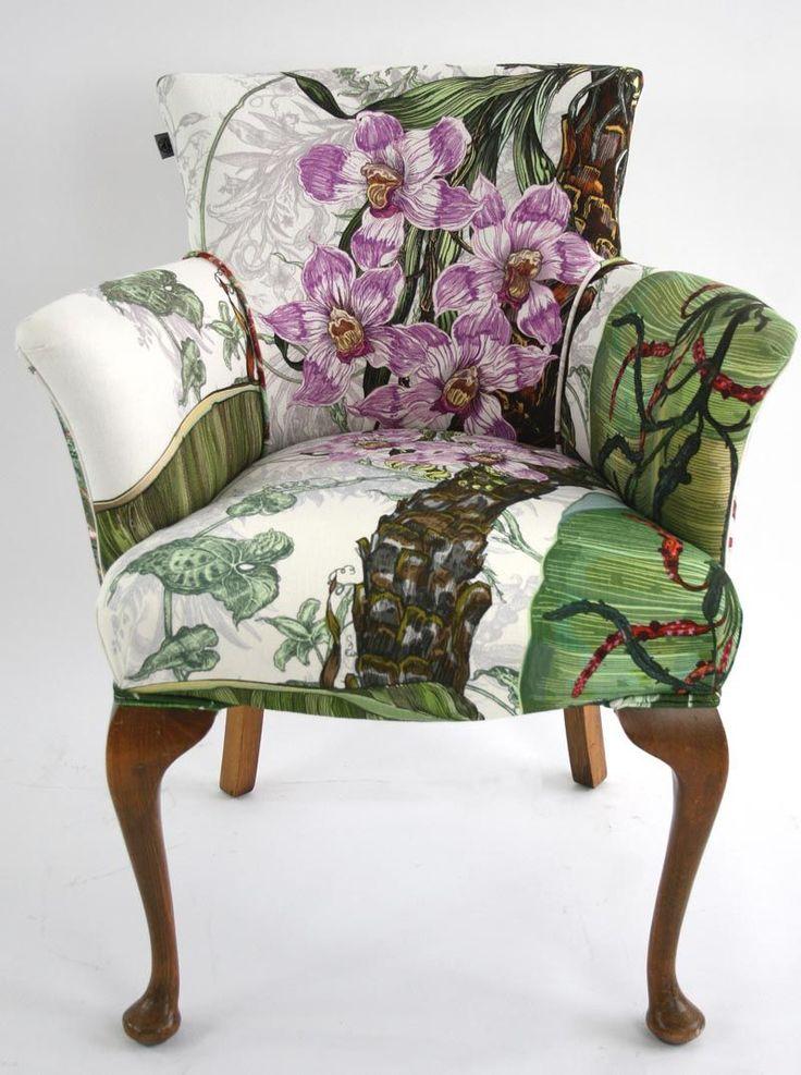 die besten 25 patchwork stuhl ideen auf pinterest jeans sofa relaxsessel und sessel neu polstern. Black Bedroom Furniture Sets. Home Design Ideas