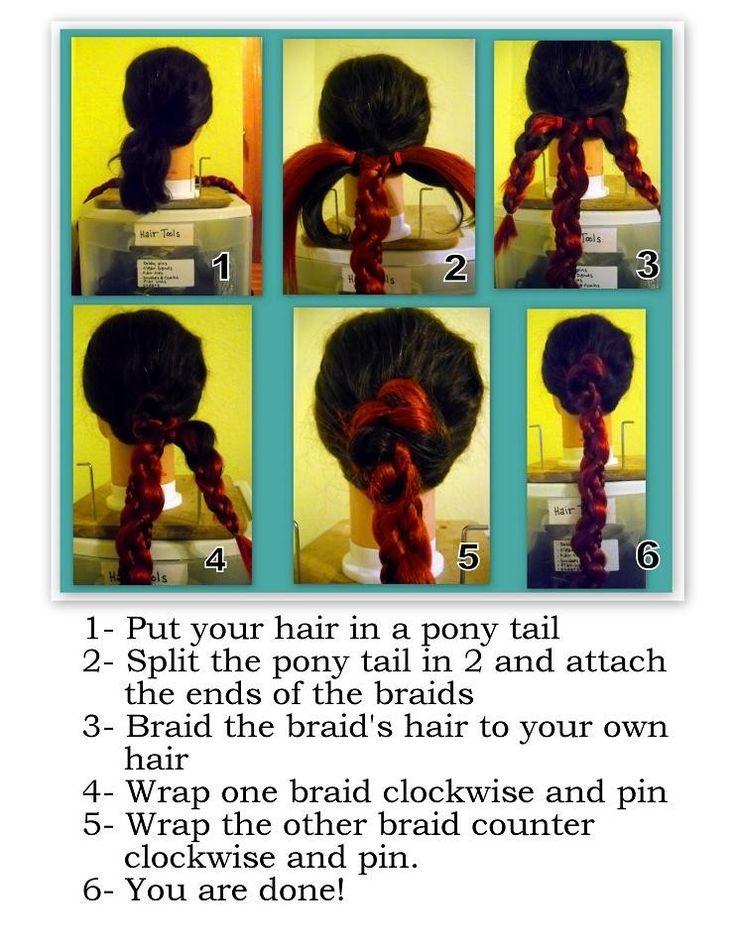 Medieval Renaissance hair accessory SCA ren faire garb princess bride Costume Wig reenactment Braid Hair fall Extension Twist Custom color. $78.00, via Etsy.