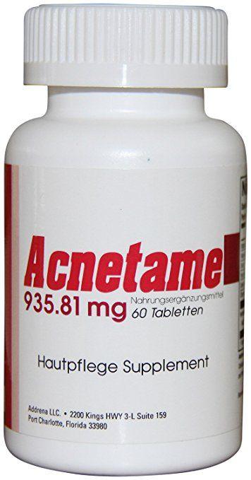 Acnetame 935.81 mg Nahrungsergänzungsmittel-Vitamine gegen Akne, 60 natürliche Tabletten